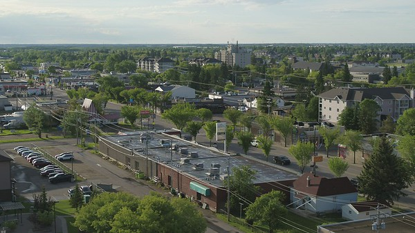 Downtown Leduc Drone Footage