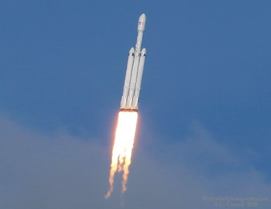 Spacex Falcon 9 Heavy Launch 2/6/2018