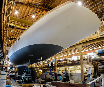 91' Sloop at Brooklin Boat Yard