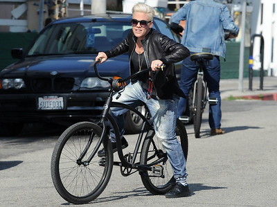 EXC: P!NK Cycles Like A Rockstar