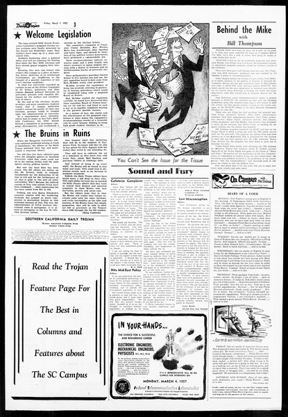 Daily Trojan, Vol. 48, No. 84, March 01, 1957