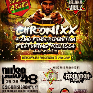 Chronixx Live in Brooklyn at Pulse48 (9.21.13)