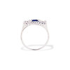 .40ctw 3-Stone Sapphire and Diamond Band by Relais 2
