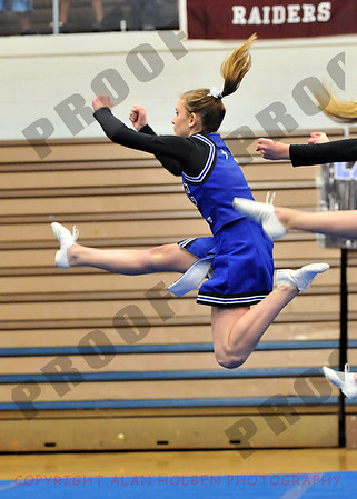 Competitive Cheer at Lansing Catholic January 17