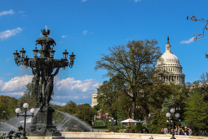 Bartholdi Fountain and US Capitol