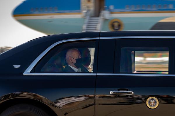 Long Beach: President Biden Departs California In Air Force One