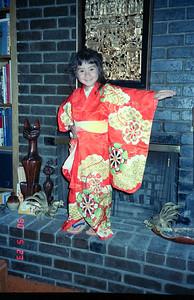 Tiffany dressed up as a  Japanese Geisha