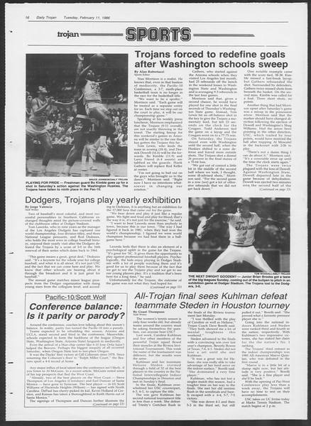Daily Trojan, Vol. 100, No. 23, February 11, 1986