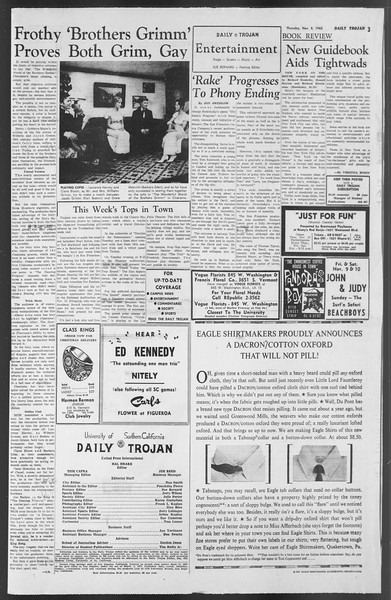 Daily Trojan, Vol. 54, No. 33, November 08, 1962