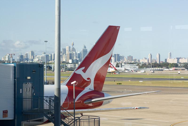 Waiting for my flight at Sydney International Airport, Australia