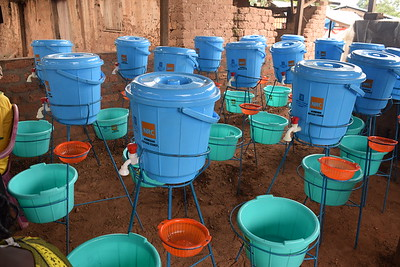 Distribution of wash kits for the response to covid