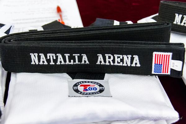 Natalia's Black Belt Ceremony
