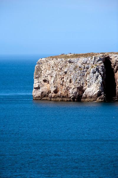 Sagres point over the Atlantic Ocean, town of Sagres, municipality of Vila do Bispo, district of Faro, region of Algarve, southwestern Portugal