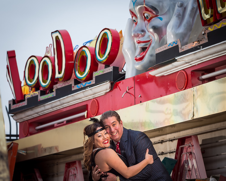 Andria & James at the SIgn Museum in Las Vegas 12.13.12.