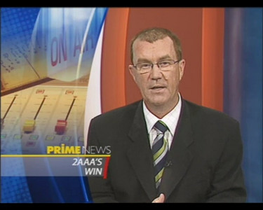 30/8/06 TV news coverage of 2AAA's enlarged broadcast area