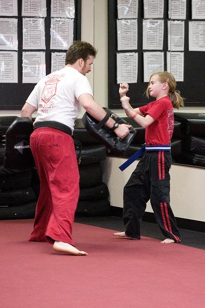 Shifu James and Sarah sparring.