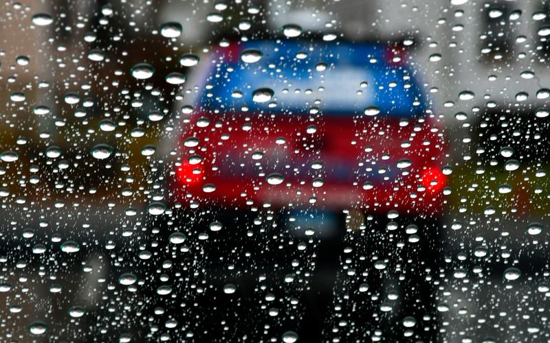1/5/2019 Mike Orazzi   Staff My rain covered windshield on Chapman Street in New Britain.