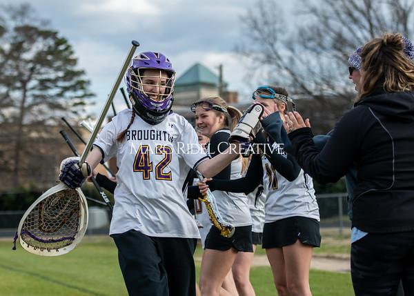 Broughton girls varsity lacrosse vs Middle Creek. February 28, 2020. MRC_5486
