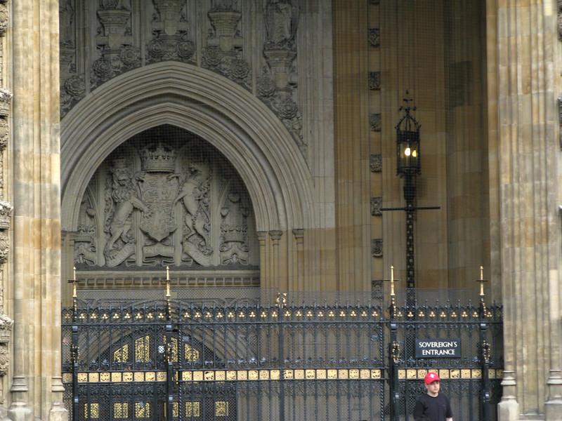 Sovereign's entrance.  Ooooo