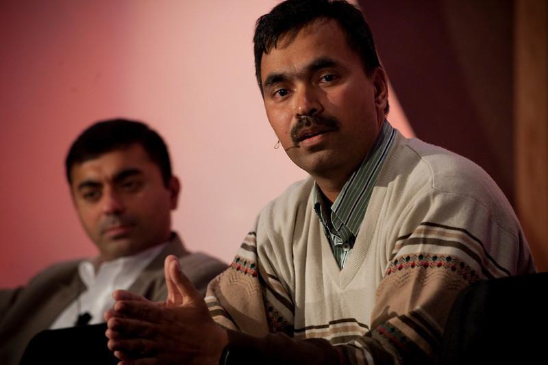 CTO Design Challenge II: Sajal Sahay, Executive Director Marketing, Devices Innovation, T-Mobile USA; and panel leader Chetan Sharma, President, Chetan Sharma Consulting