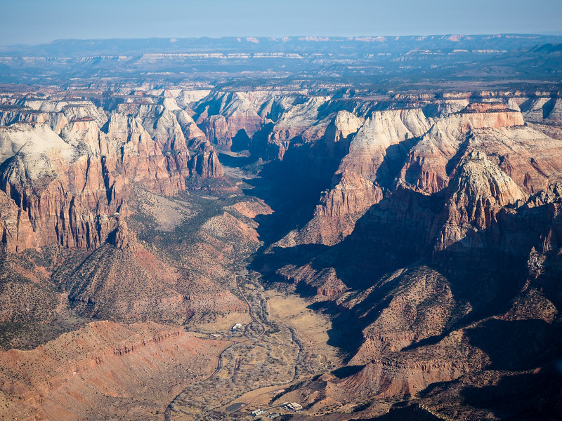 Zion Canyon from a helicopter