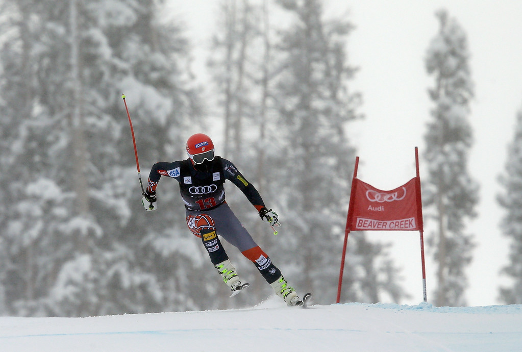 . Bode Miller of the USA skis during the FIS Beaver Creek Men\'s Downhill World Cup race on December 6, 2013 in Beaver Creek, Colorado. (Photo by Ezra Shaw/Getty Images)