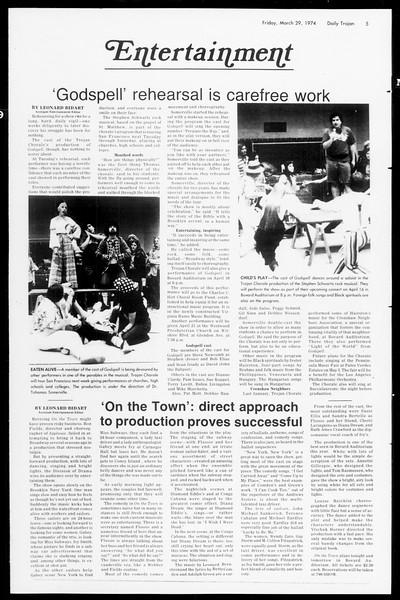 Daily Trojan, Vol. 66, No. 101, March 29, 1974