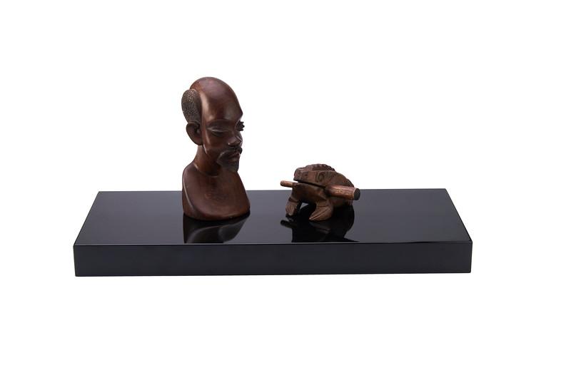 600mm x 250mm x 51mm Floating Shelf, Black