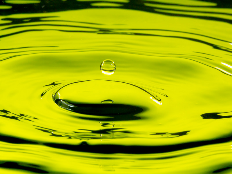Yellow Green Water Drop Splash