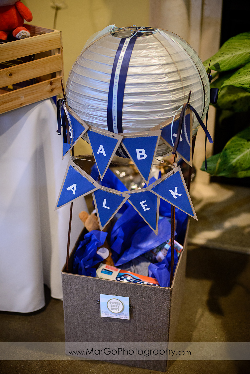 balloon baby shower gift, Windmill Ridge Winery