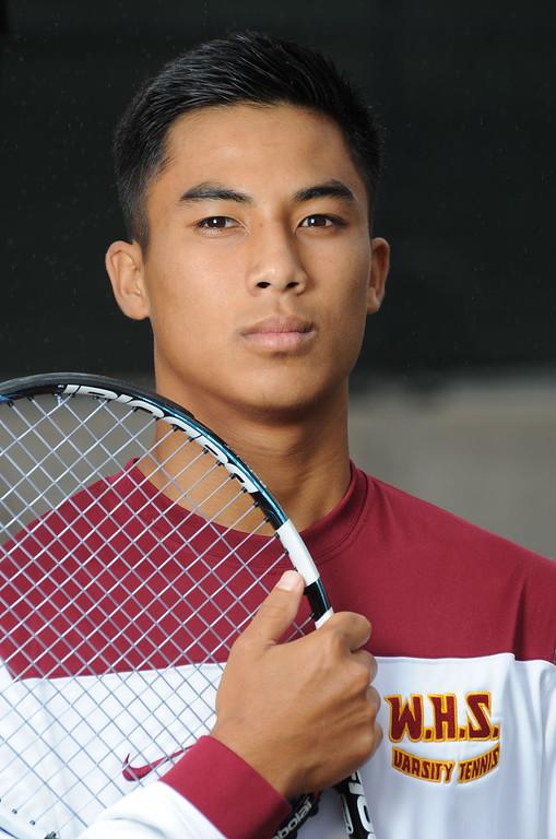 . Wilson High\'s Jenteel Alcafaras is the Press Telegram\'s Boys Tennis Player of the Year for 2013. 20130612 Photo by Steve McCrank / Staff Photographer