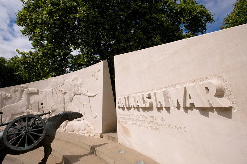 War memorial to animals on Park Lane, London, United Kingdom