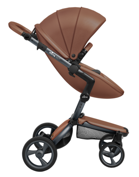 Mima_Xari_Product_Shot_Camel_Flair_Graphite_Chassis_Side_View_Seat_Pod.png