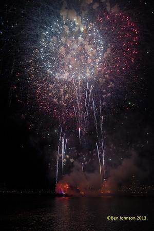 Philadelphia New Year Fireworks 2013