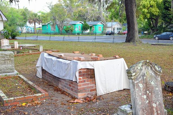 Oak Grove Cemetery Society Restoration of Whitfield Plot 04-06-19