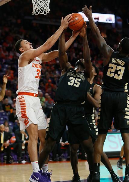 2019 Mens Basketball: Clemson v Wake Forest Feb. 3