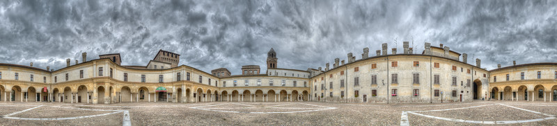 Piazza Castello - Mantova, Italy - July 21, 2014