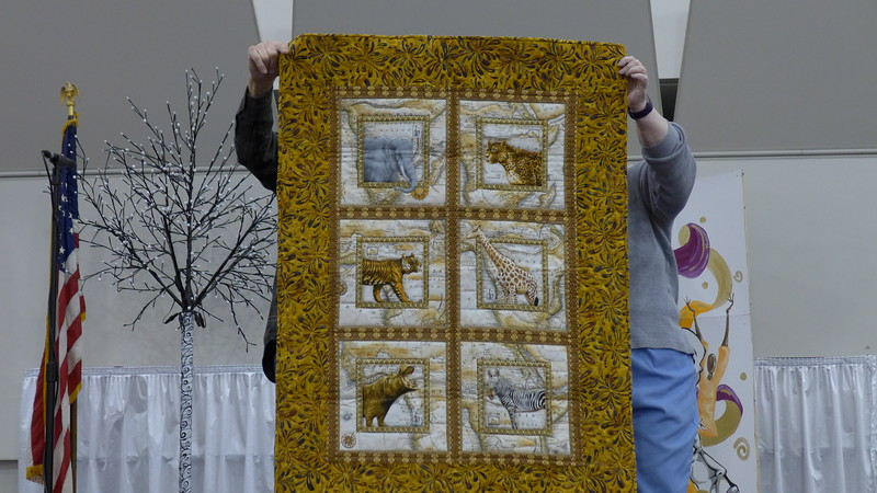 A Quilt by John Putnam for Heart Warmers.  Made from a panel.