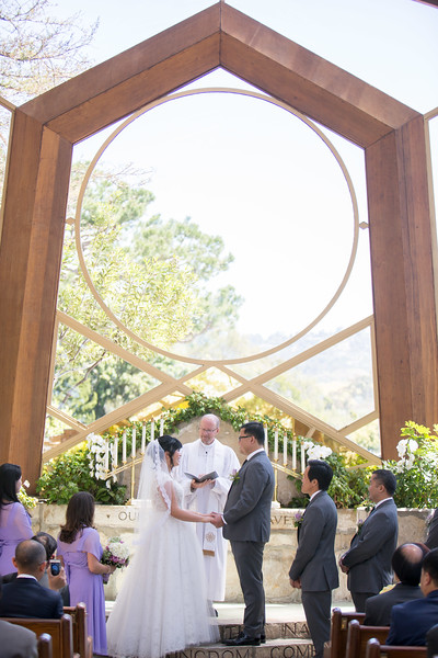 Wayfarer's Chapel Wedding | Palos Verdes Wedding
