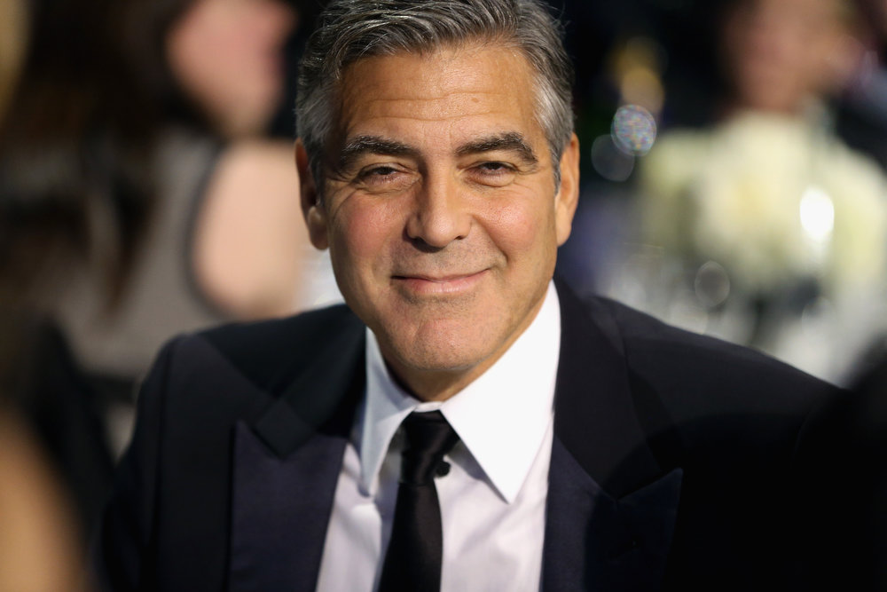 . SANTA MONICA, CA - JANUARY 10:  Producer/Actor George Clooney attends the 18th Annual Critics\' Choice Movie Awards held at Barker Hangar on January 10, 2013 in Santa Monica, California.  (Photo by Christopher Polk/Getty Images for BFCA)