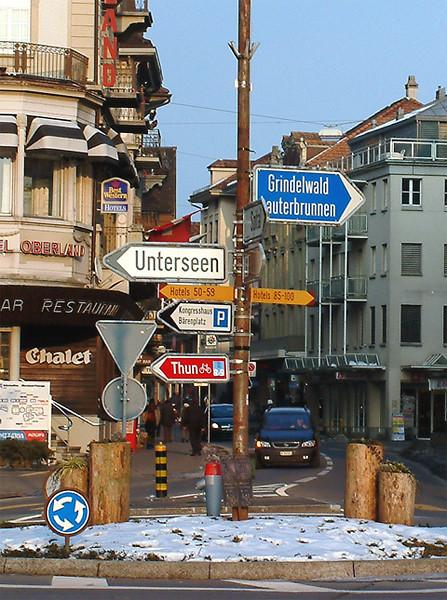 Interlaken - main roundabout