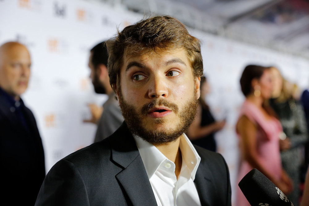 ". Actor Emile Hirsch arrives at the ""Twice Born\"" premiere during the 2012 Toronto International Film Festival at Roy Thomson Hall on September 13, 2012 in Toronto, Canada.  (Photo by Jemal Countess/Getty Images)"