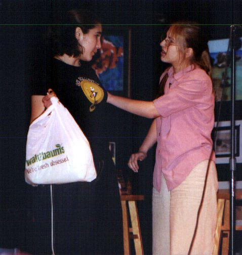 Poet's Cafe '02 -- Kaylyn & Carol (the Dead Cat skit)