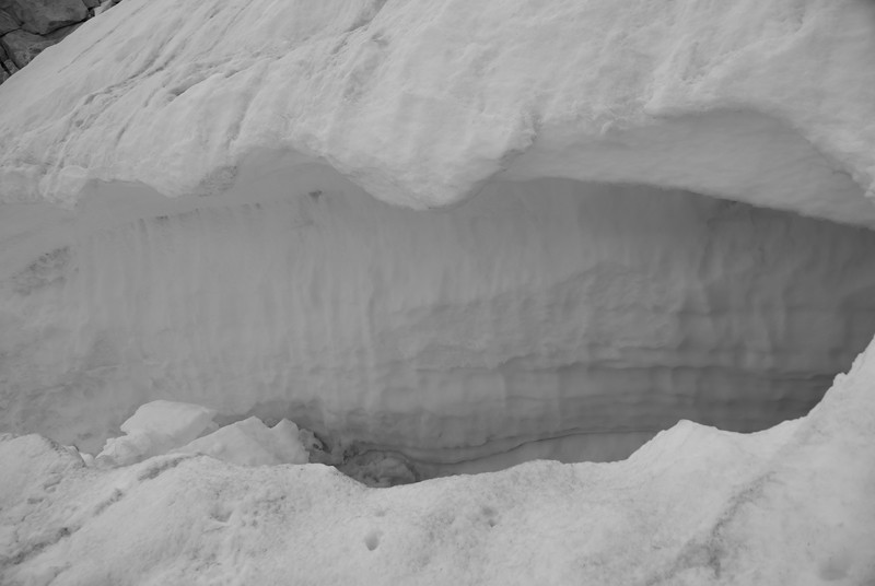 The bergschrund.