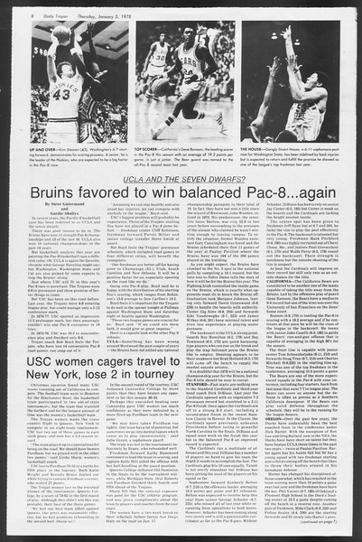 Daily Trojan, Vol. 72, No. 59, January 05, 1978