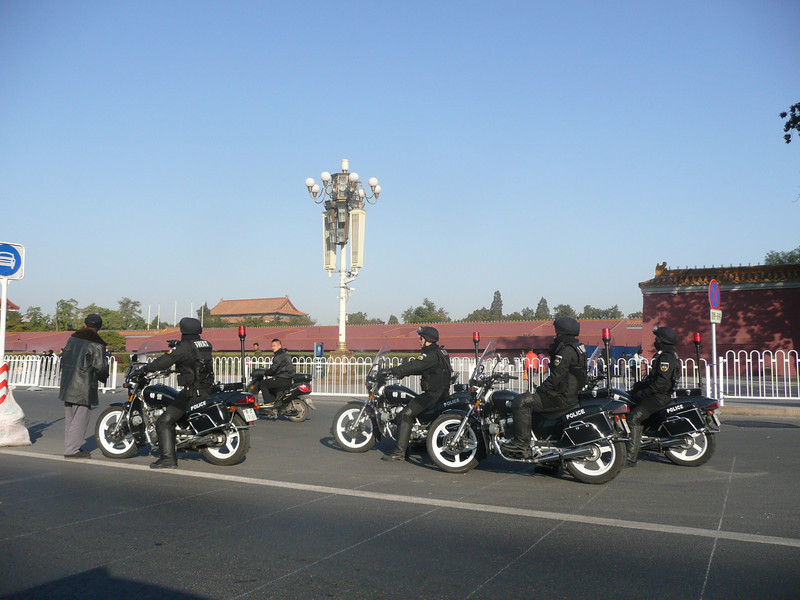 SWAT Bikes! other members were in a Hummer, Tian'anmen Square, Beijing 2010