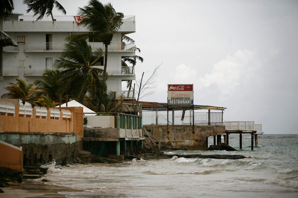 . Apartment buildings and hotels stand on the Isla Verde beach coastline in Carolina, Puerto Rico, Wednesday July 6, 2011.   (AP Photo/Ricardo Arduengo)