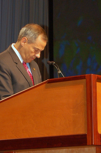 Vice-President Carlos Pena during plenary session two.