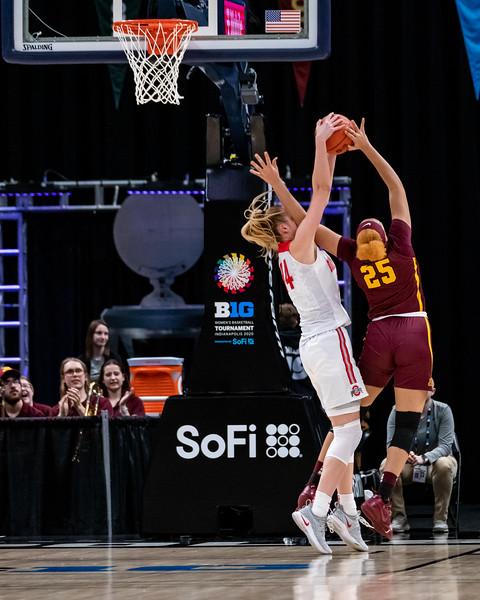 Big Ten Women's Tourney Minnesota vs Ohio State