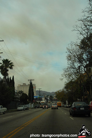 Barham Fire - Fire in the Hollywood Hills - Los Angeles, CA - March 30, 2007